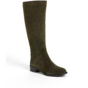 Franco Sarto Cristo Hunter Green Leather Boots